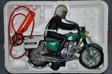RE-EL Reel Polizei Honda elektrisches Motorrad mit Figur Vintage Toy 70/80er