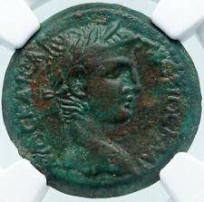 Claudius Authentic Ancient 42Ad Mopsus Cilicia Roman Coin Tyche Ngc i85402