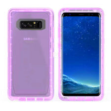 For Samsung Galaxy Note 8,Dual Case Defender Outer Transparent Shockproof Purple