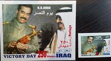Iraq Saddam Hussein's gold Kalashnikov victory day 2002