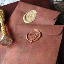 Vintage Classic 2Pcs For Wax Seal Manila Postcards Envelope Retro Wax Envelope