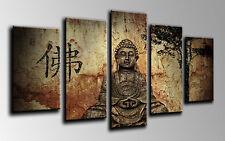 Cuadro Moderno Fotografico base madera, 145 x 63 Buda Buddha Retro ref. 26001