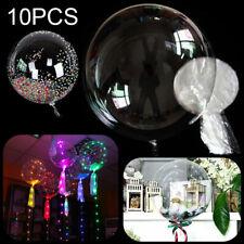 10Pcs Transparent Clear BOBO Balloons No Wrinkle Wedding Birthday Party Decor