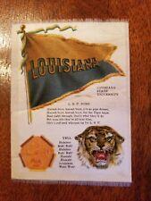 c1910 S23 tobacco silk Louisiana State University Lsu Mascot college cheer silk