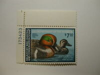 US Department of Interior Scott #RW48 $7.50 Green-winged Teal 1981, MNH /NG P...