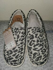 Hey Dude Women's Misty Woven Cheetah Grey SZ US 8