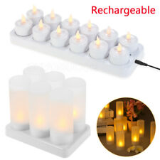 Rechargeable Candles LED Tea Light With Holders Flicker Flameless Lamp Christmas