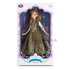 """New 2015 Disney Store Frozen Anna 17"""" Limited Edition Collector Doll LE 5000"""