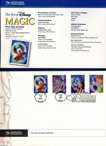 2007 The Art of Disney Magic (4192-95) . First Day Cover & Ceremony Program