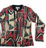 Joseph Ribkoff Women's Multi-Color Full Zip Jacket Size 10