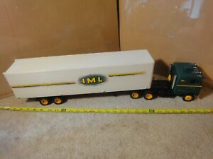 Vintage Toys For Big Boys, IML freight cabover semi truck tractor trailer model.