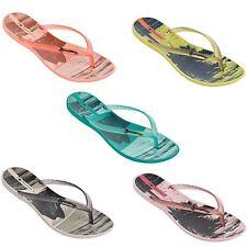 Ipanema Wave Tropical Womens Flip Flops Aqua, Beige, Orange, Peach and Yellow