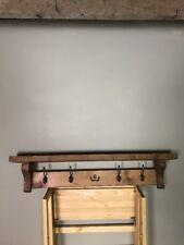 Rustic Pine Coat rack hook with shelf