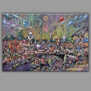 14x21 BIKINI BOTTOM, graffiti tattoo wall art animal Aladdin pop culture alien
