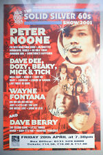 More details for signed by multiple stars - original vintage the solid silver 60's tour poster