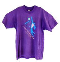 VTG Men's Purple Community Center 90s Spell Out Single Stitch T-Shirt Sz XL