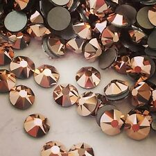SWAROVSKI CRYSTAL 50x SS30 ROSE GOLD COPPER rhinestones flatbacks stone GLUE ON