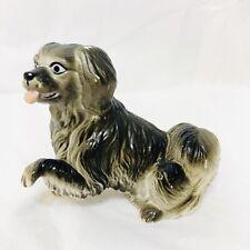 "Vintage New-Ray Soft Rubber Tibetan Spaniel Dog Toy Figure 2 1/4"" Tall"
