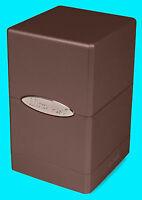 ULTRA PRO METALLIC DARK CHOCOLATE SATIN TOWER DECK BOX New Card Dice Compartment