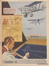 * QUADERNO FASCISTA - Autarchia, Aviazione, Leonardo Da Vinci - Pomi 1940 Testo