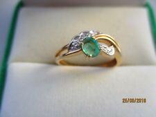 bijoux or 18 carats bague or emeraudes diamants