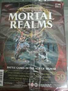 """Warhammer AoS Mortal Realms """"Evocators on Celestial Dracoline"""" Sealed (Issue 59)"""