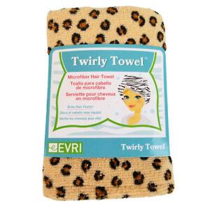 NEW IN PACKAGE Women's Twirly Towel Evri Leopard Print Microfiber Hair Turban