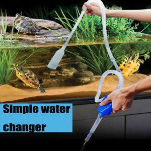 Vacuum Water Pump Aquarium Fish Tank Clean Water Pump Vacuum Gravel Cleaner UK