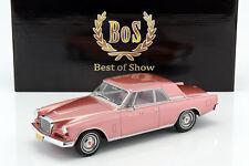 Studebaker gran turismo Hawk año de fabricación 1963 rosa metalizado 1:18 bos-models