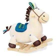 B. toys Rocking Horse Wood, Polyester Rockers and Spring Horses