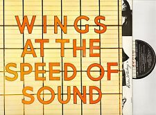 WINGS at the speed of sound PAS 10010 uk mpl 1976 with inner LP EX/EX-