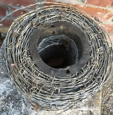 Antique Galvanized Steel Barbed Wire Estate Find