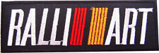 New Mitsubishi Ralliart Racing embroidered iron on patch. 5.5 x 1.5 inch (i45)