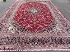 Vintage Hand Made Traditional Rugs Oriental Wool Red Blue Large Carpet 404x292cm