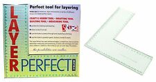 METRIC LAYER PERFECT MEASURING TOOL RULER CRAFT HOBBY SCRAPBOOK QUILTING S57321