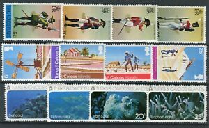 Turks & Caicos QEII 1975 Commemorative issues MNH Uniforms Salt Corals