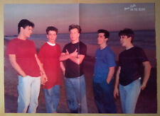 Magazine 4-pg Pinup Poster~ NEW KIDS ON THE BLOCK ~1990s ~~Back- JAY FERGUSON