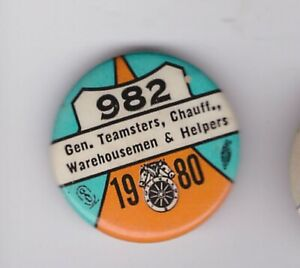 "Teamsters 982 1980   pin 1 """