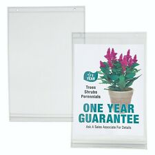 "Waterproof Poster Pockets, 8.5"" x 11"", With Punch Holes For Hanging, Pack Of 10"