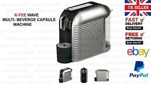 K-FEE WAVE MULTI- BEVERGE CAPSULE MACHINE *TEA *COFFEE & DRINKS*UK SELLER*