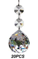Fushing 20pcs Crystal Glass Ball Chandelier Prisms Pendants Parts Beads 20mm,
