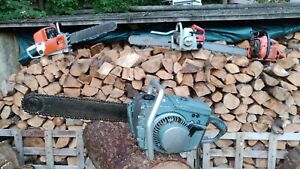 """Homelite C-5 Vintage 77cc Chainsaw. Project Saw. With 17"""" Bar & Chain. Spares"""
