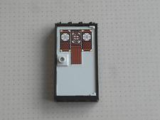 Lego - 1 Black Door with Wooden Cutout (set 70751) - 1x4x6 Studs - GMT18