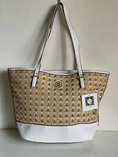 NEW! ANNE KLEIN SPRING FEVER NATURAL TAN GOLD MEDIUM SHOPPER TOTE BAG PURSE $79