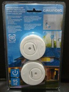 2x SECURITY DOOR WINDOW DRAWER VIBRATION SENSOR DETECTOR 95dB  ALARM SIREN LOUD