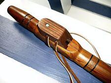 Native American Style Flute Western Red Cedar / Black Walnut Block key of F#