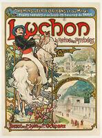 Original Art Nouveau Poster - Mucha - Luchon - Pyrénées Queen - Travel - 1895