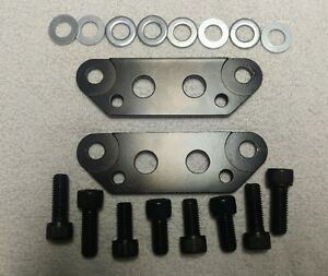 85 to 87 C4 to C5-C6 front brake adapter or conversion brackets (powdercoated)