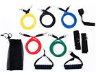11PCS Resistance Band Set Yoga Pilates Abs Exercise Fitness Tube Workout Bands