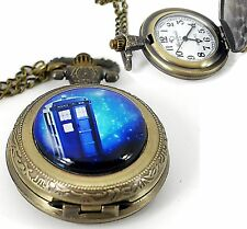 DR DOCTOR WHO POLICE PHONE BOX TIME TRAVEL FILM MOVIE SCI FI POCKET GIFT WATCH